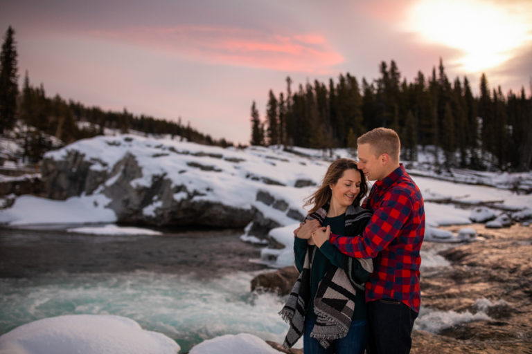 Engagement Photos at Elbow Falls in Bragg creek