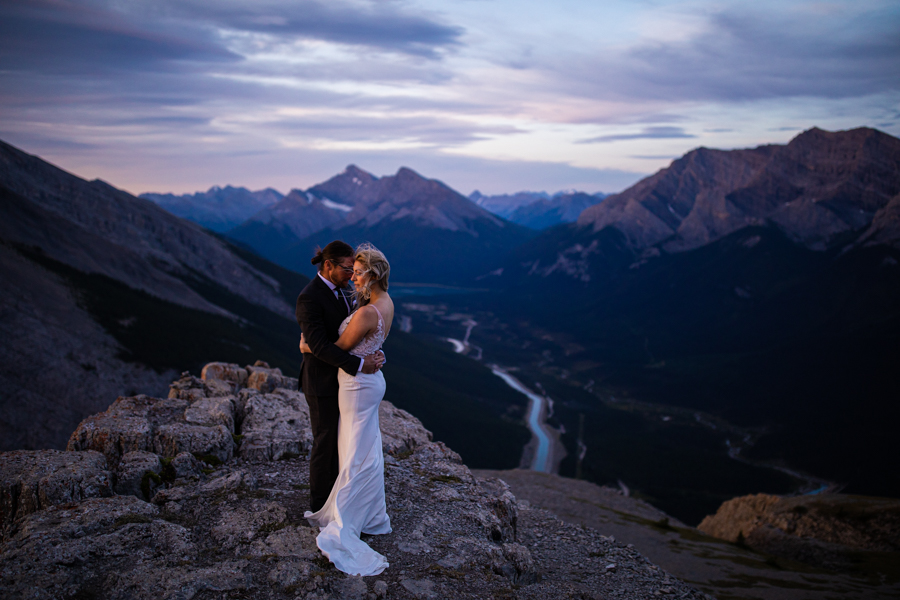 elope in Canmore on the top of EOR