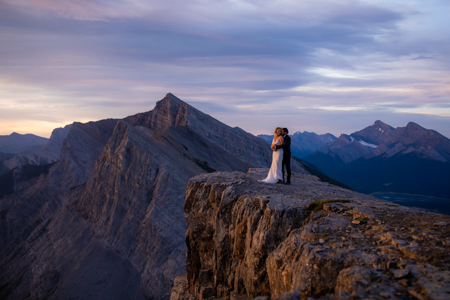 elopement photography - Canmore elopement couple