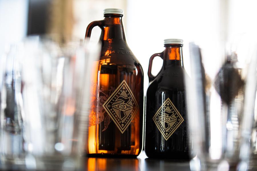 Calgary beer photos of growlers