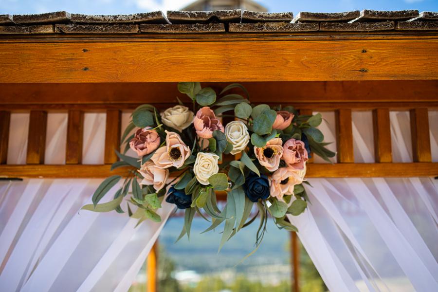 Flowers on the silvertip gazebo
