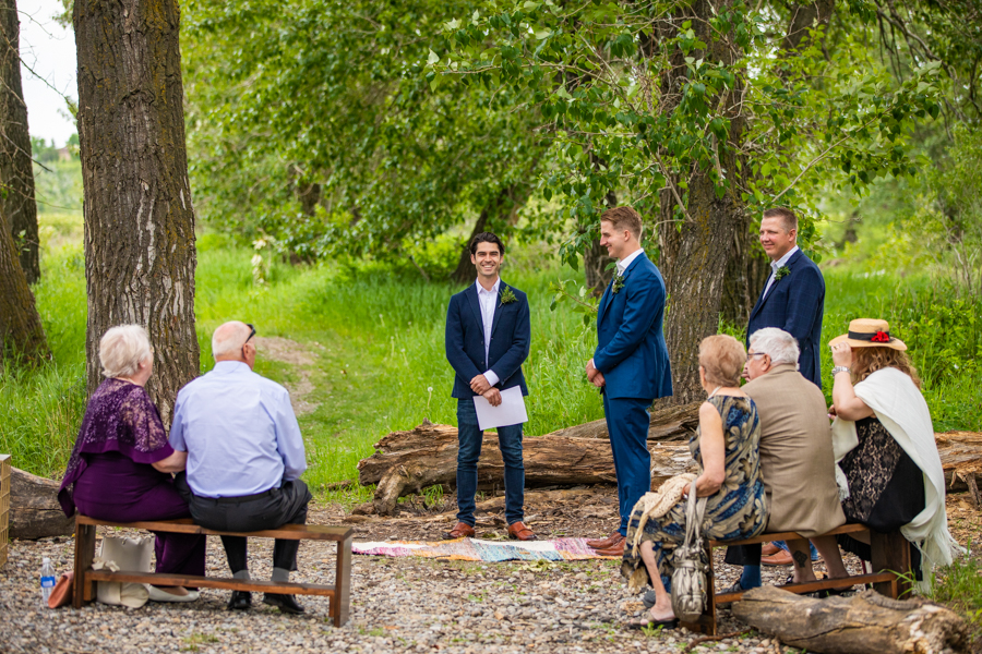 ceremony site for fish creek park elopement