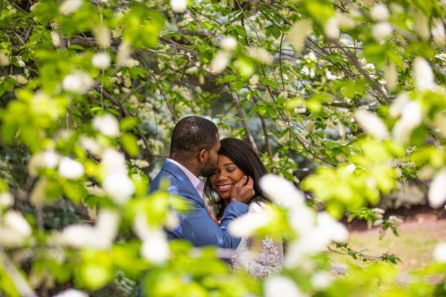 Loving Jamaican couple getting married in Lindsay Park Calgary