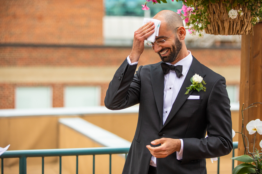 edmonton elopement on a rooftop