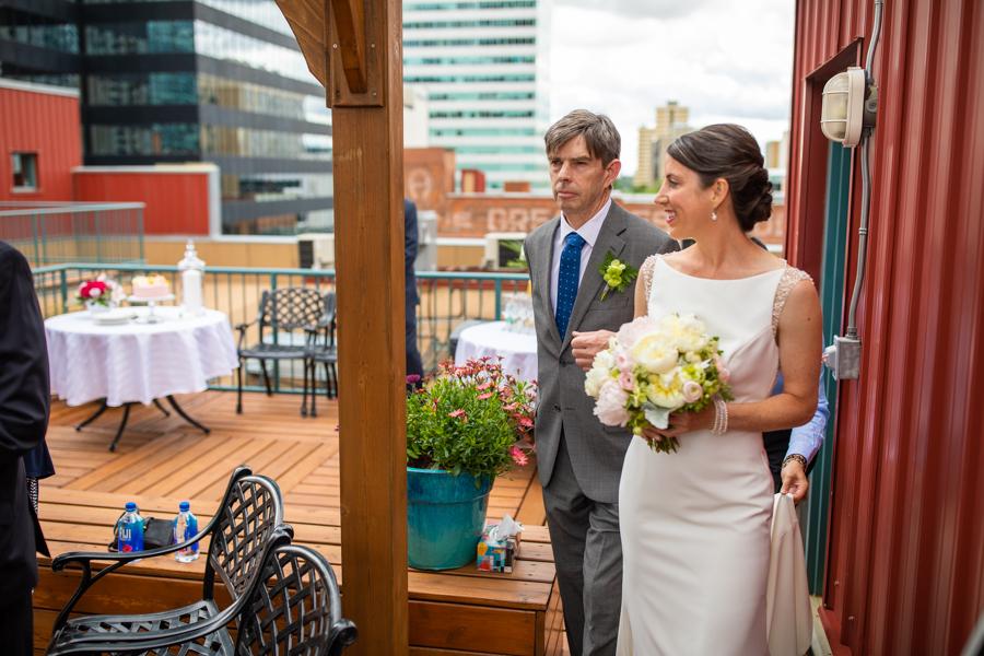 bride sees groom in edmonton elopement wedding