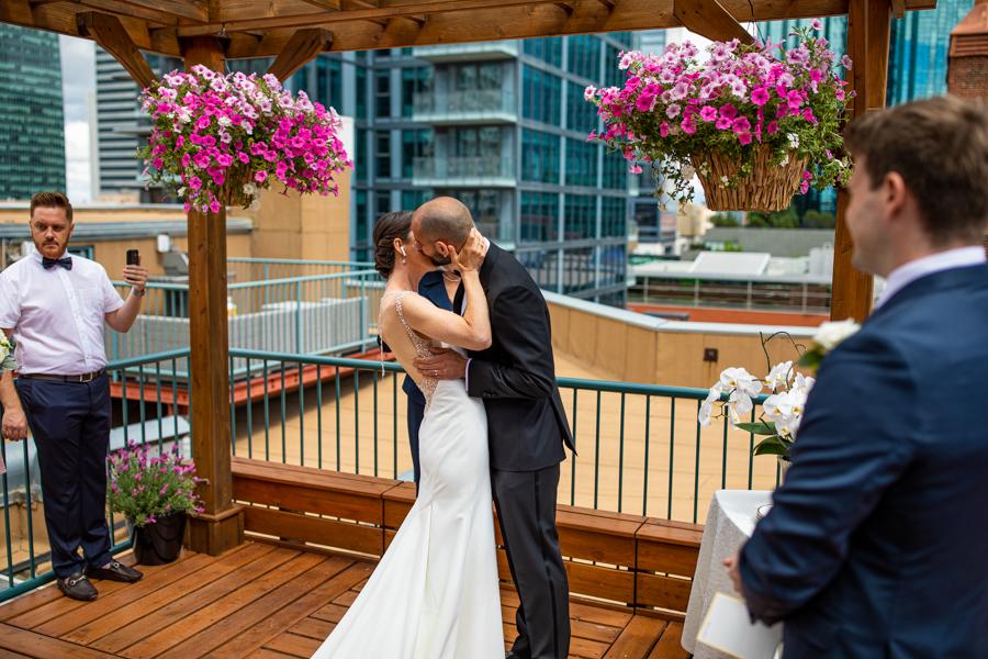 first kiss edmonton elopement and wedding