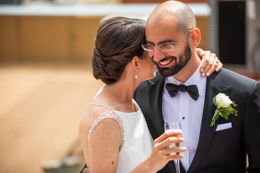 edmonton elopement and wedding in downtown rooftop