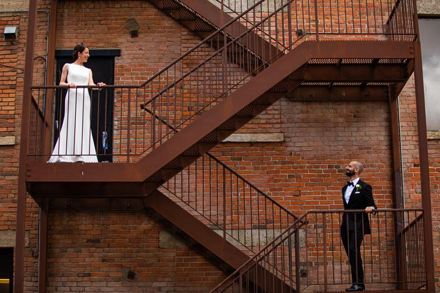 rooftop edmonton wedding and elopement