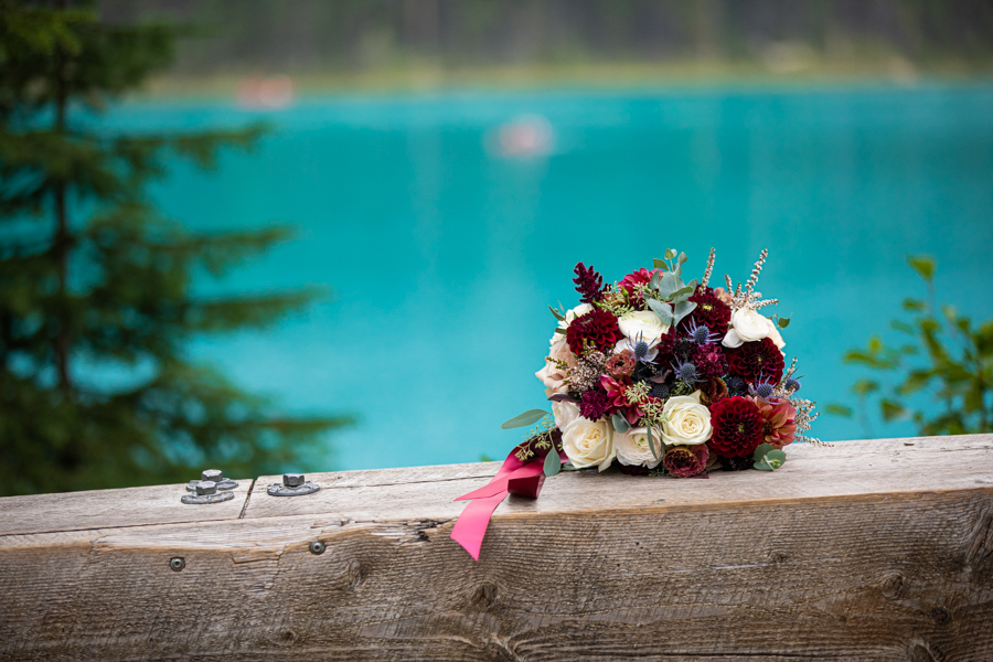 Black earth florals at emerald lake