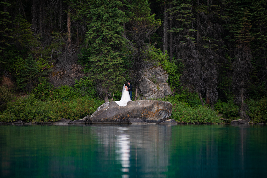 emerald Lake elopement from a different view