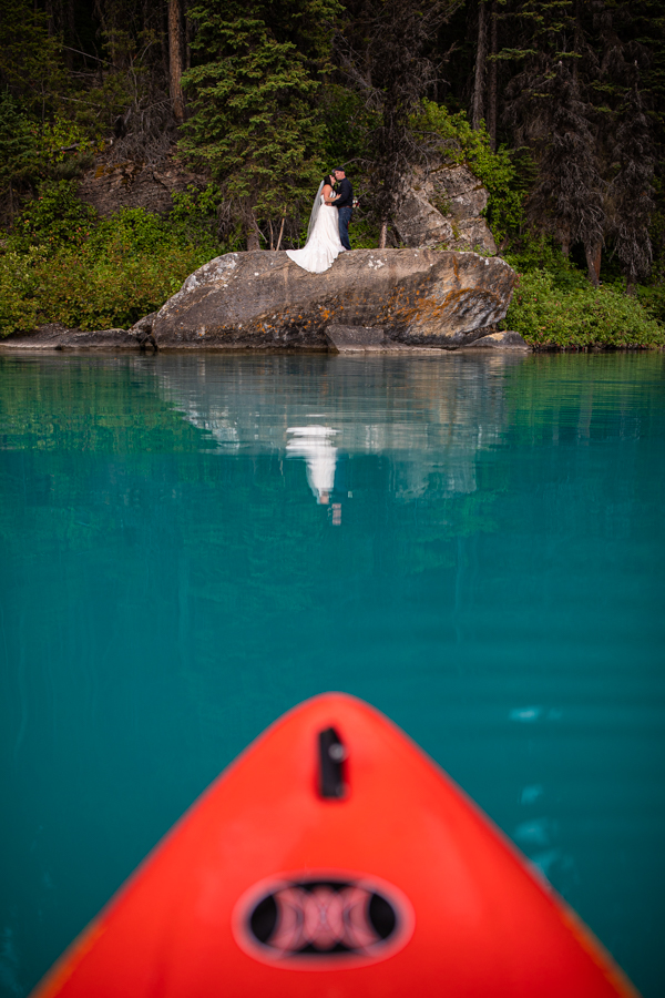 kayak wedding photos emerald lake