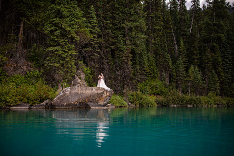 emerald lake different wedding photos