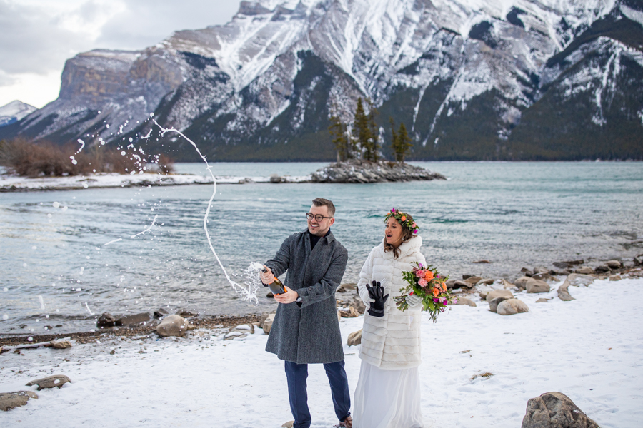 Lake Minnewanka elopement