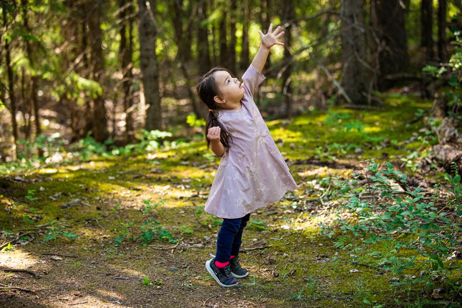 little girl in fish creek