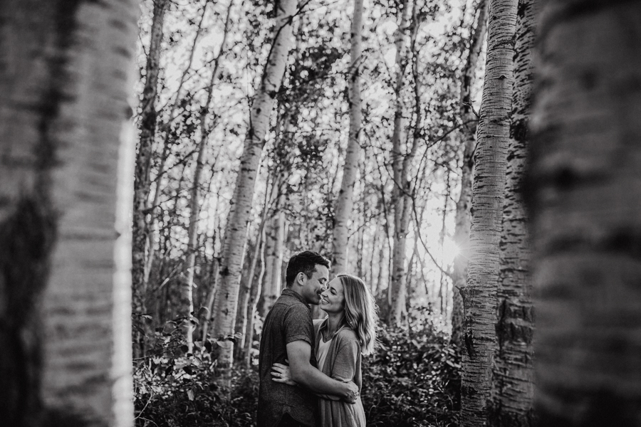 edmonton sunset engagement photos