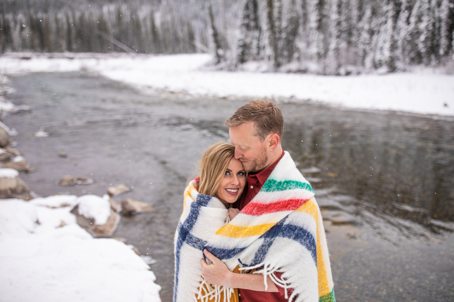 couple wrapped in a balnket