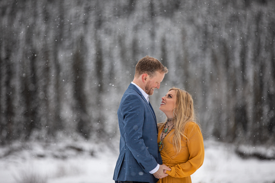 winter engagement in elbow falls