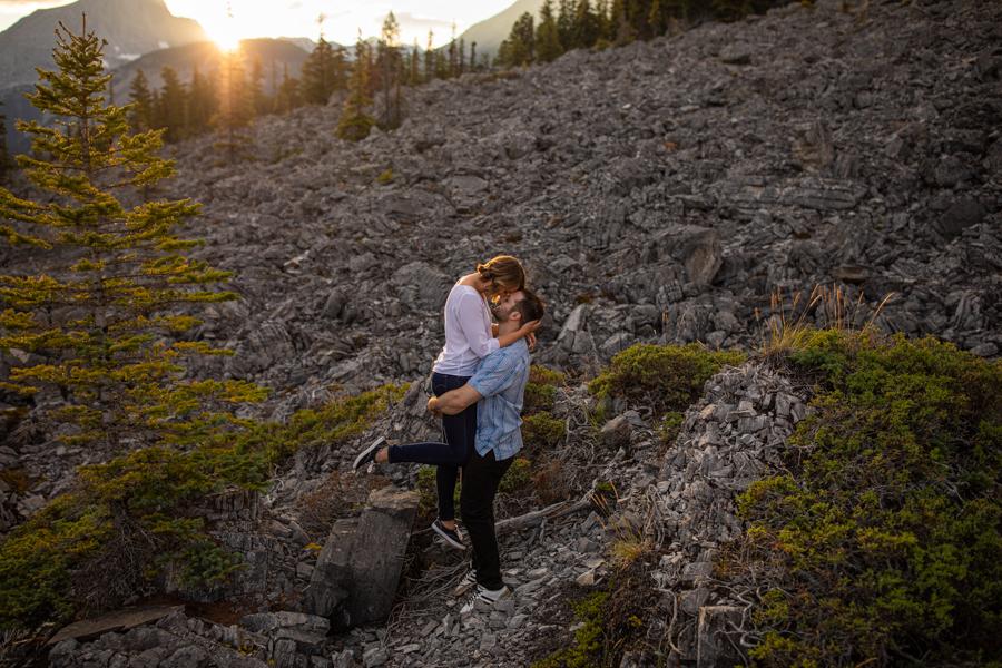 amazing Kananaskis engagement photos and location