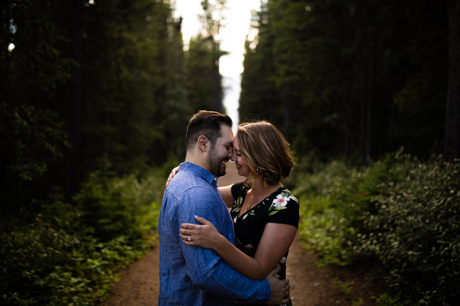 couple standing in a sunset