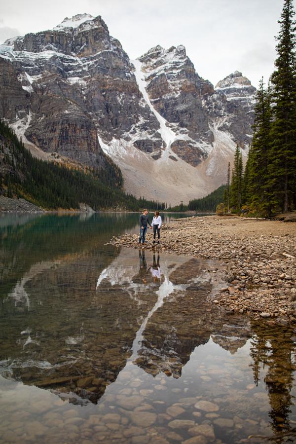 Mountain reflection at moraine lake