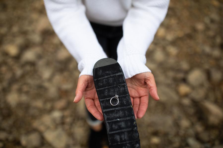 ring on a hockey stick