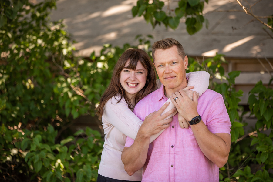 dad and daughter for family photos in alberta