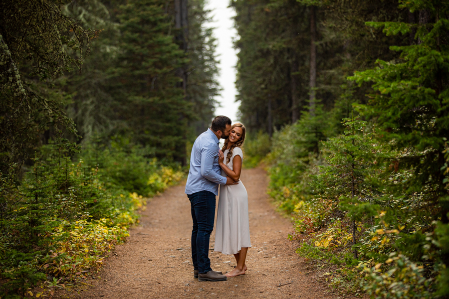 Romantic Engagement Poses in the mountains